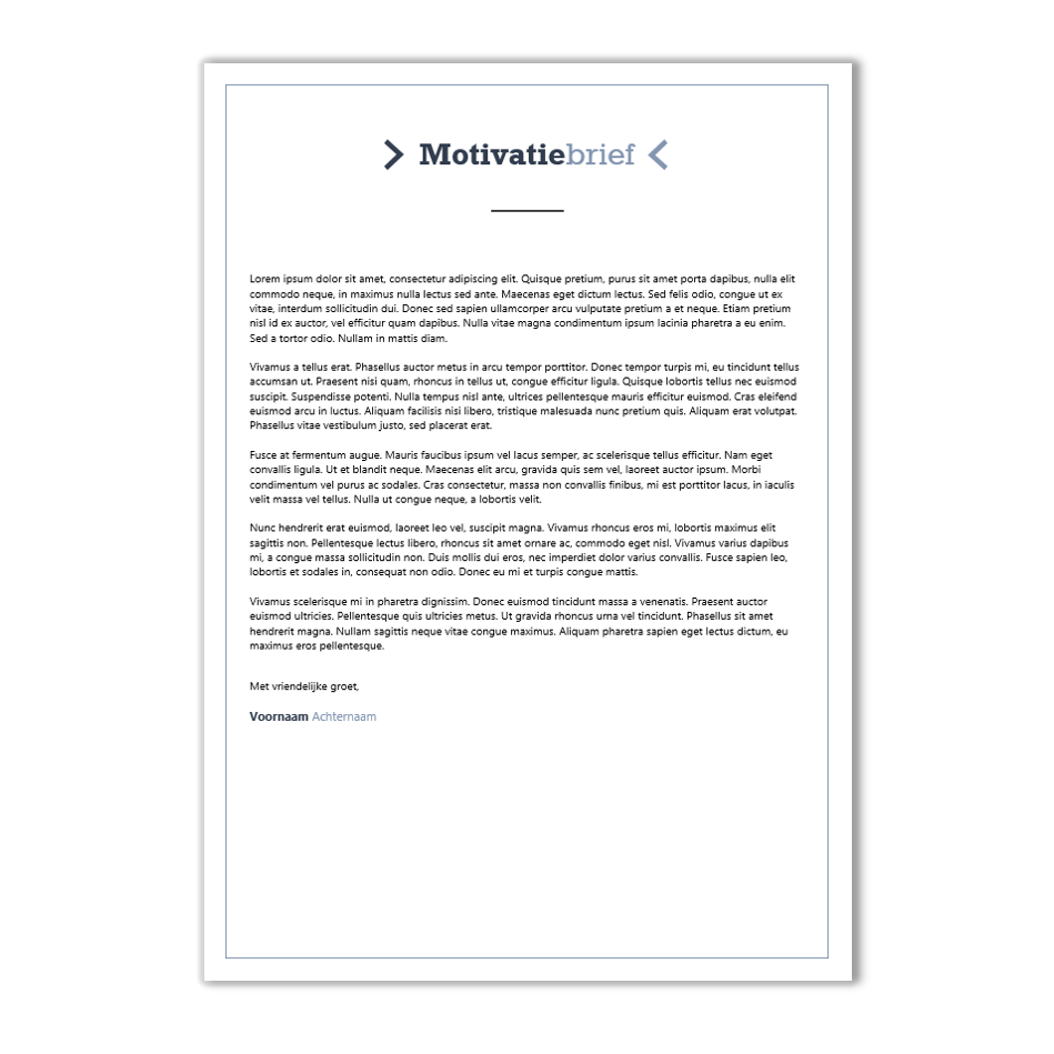 template motivatiebrief Download CV voorbeeld 31   CV template | CV voorbeelden.nl template motivatiebrief