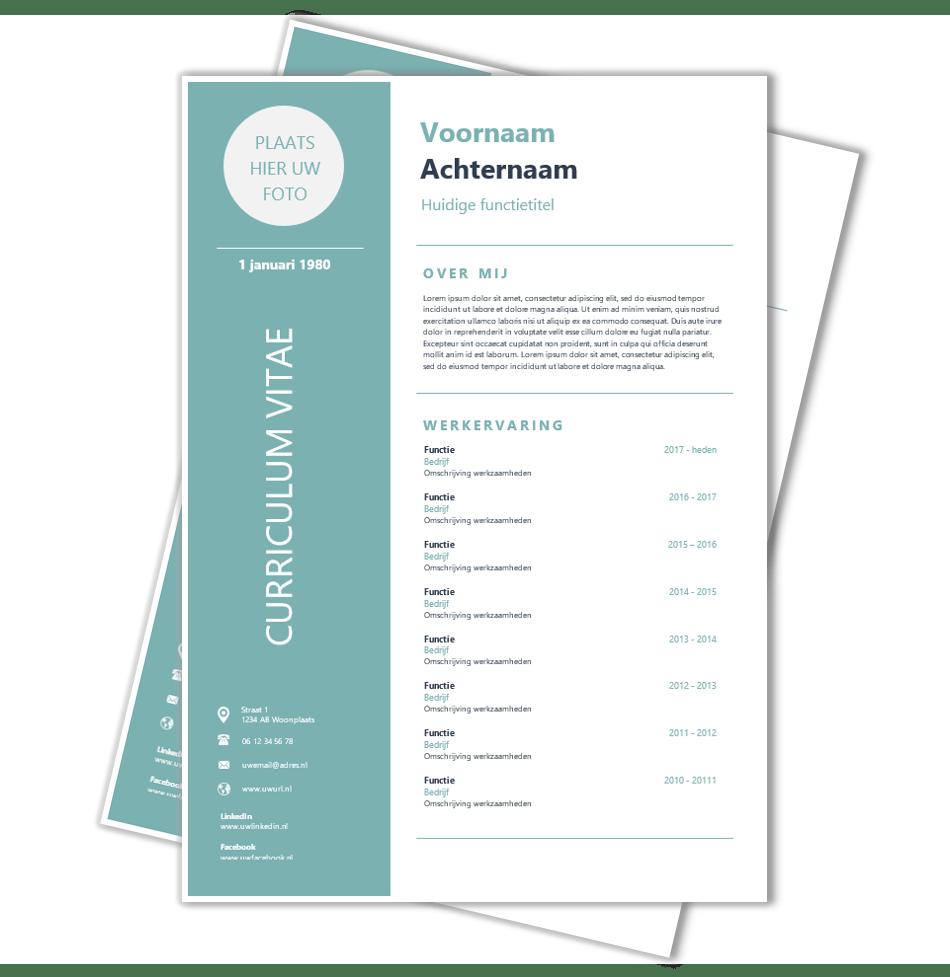 Download CV voorbeeld 48   CV template | CV voorbeelden.nl
