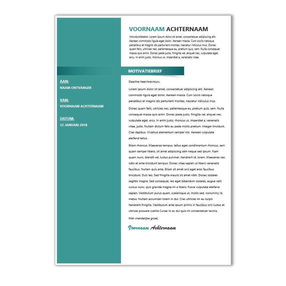 Download CV voorbeeld 39   CV template | CV voorbeelden.nl