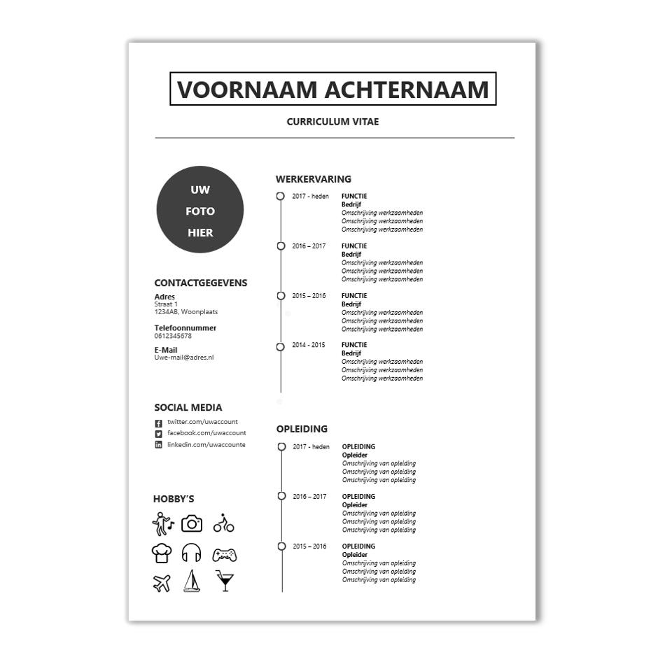 Met dit modern CV template word je sowieso uitgenodigd! | CV