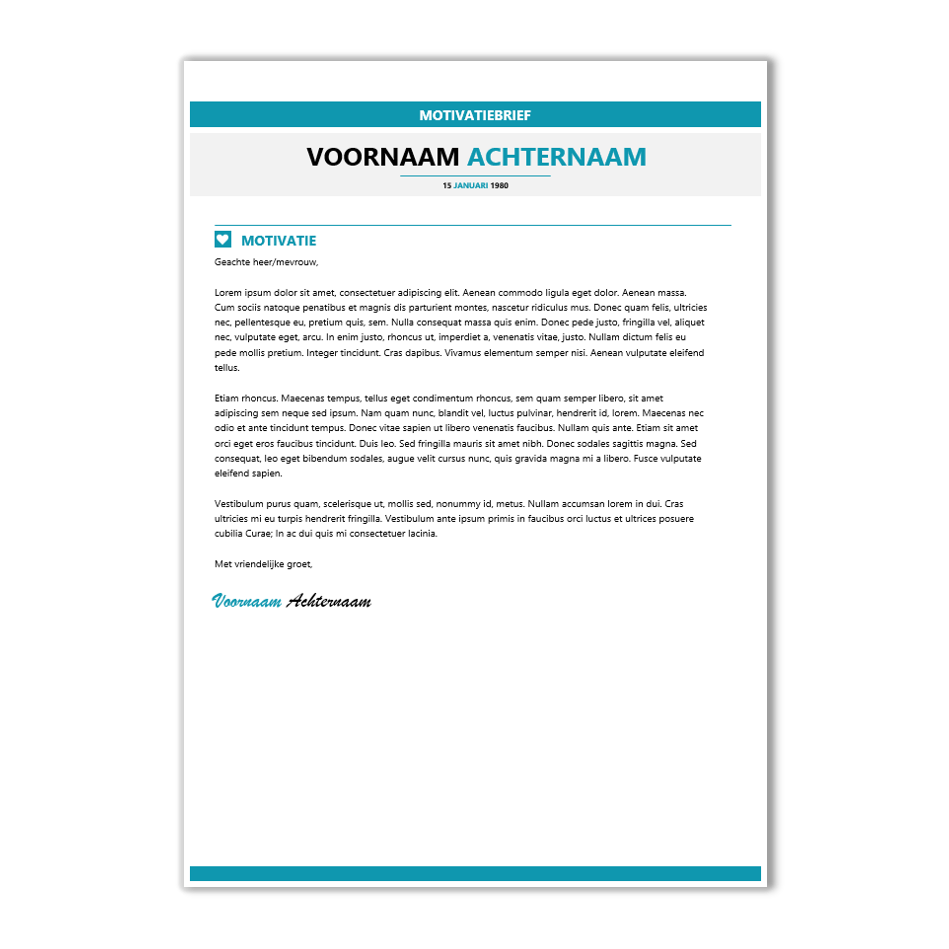 template motivatiebrief Download CV voorbeeld 23   CV template | CV voorbeelden.nl template motivatiebrief
