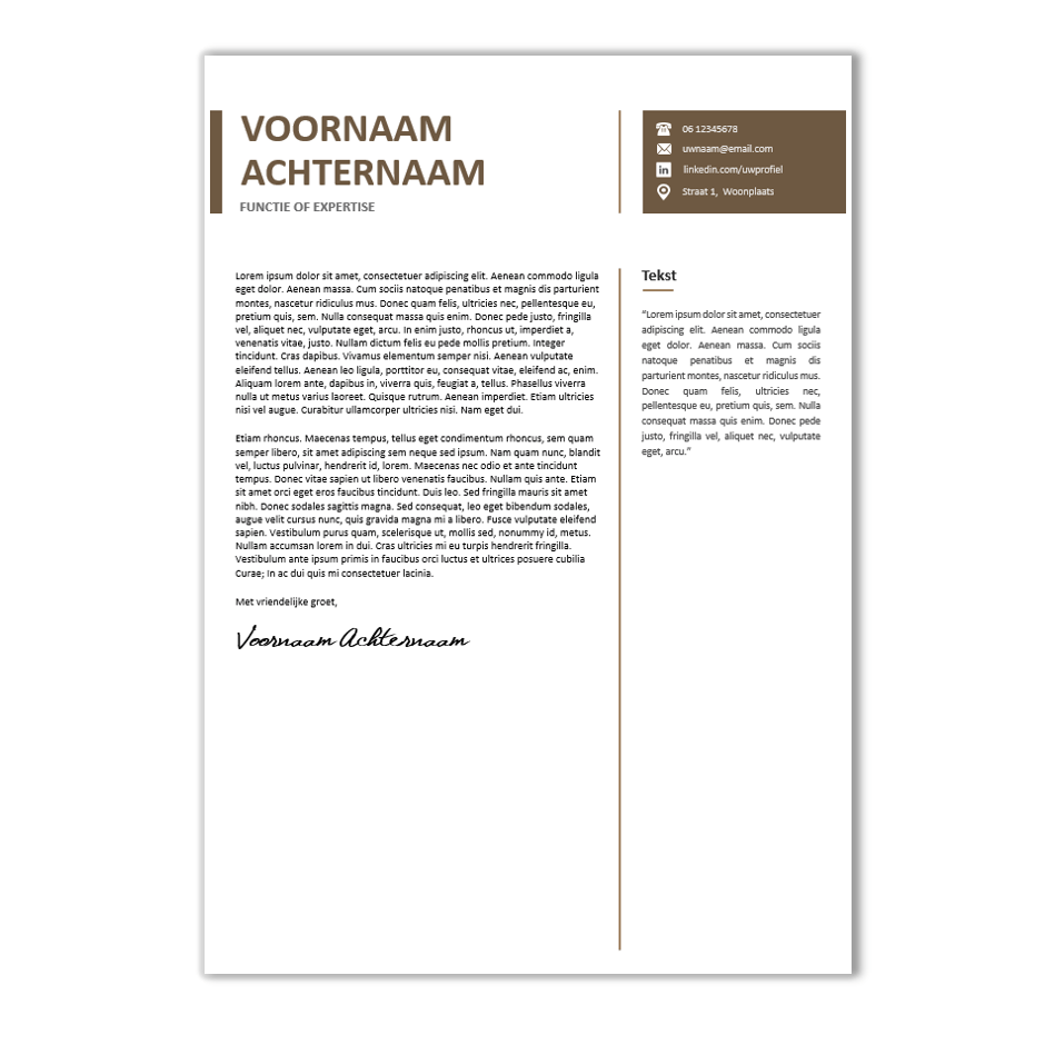 motivatiebrief template Download CV voorbeeld 34   CV template | CV voorbeelden.nl motivatiebrief template