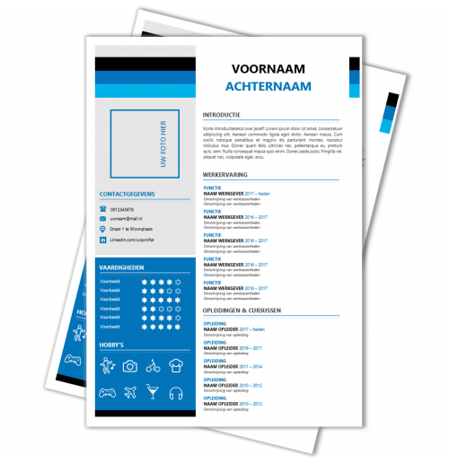 Modern CV format