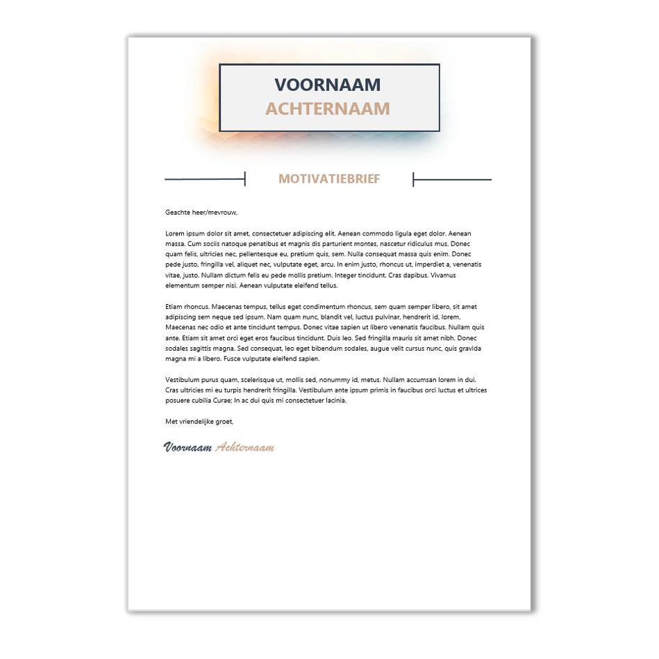 template motivatiebrief Download CV voorbeeld 66   CV template | CV voorbeelden.nl template motivatiebrief