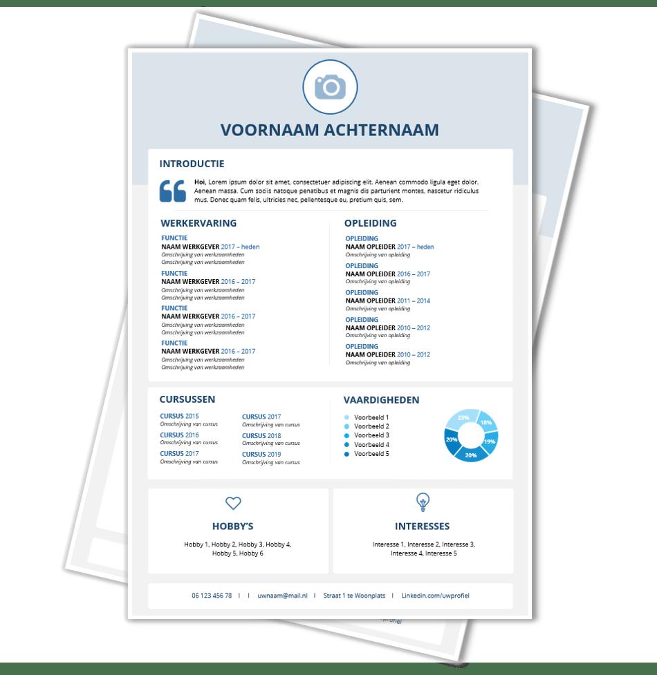 Download voorbeeld CV template 81 | CV voorbeelden.nl
