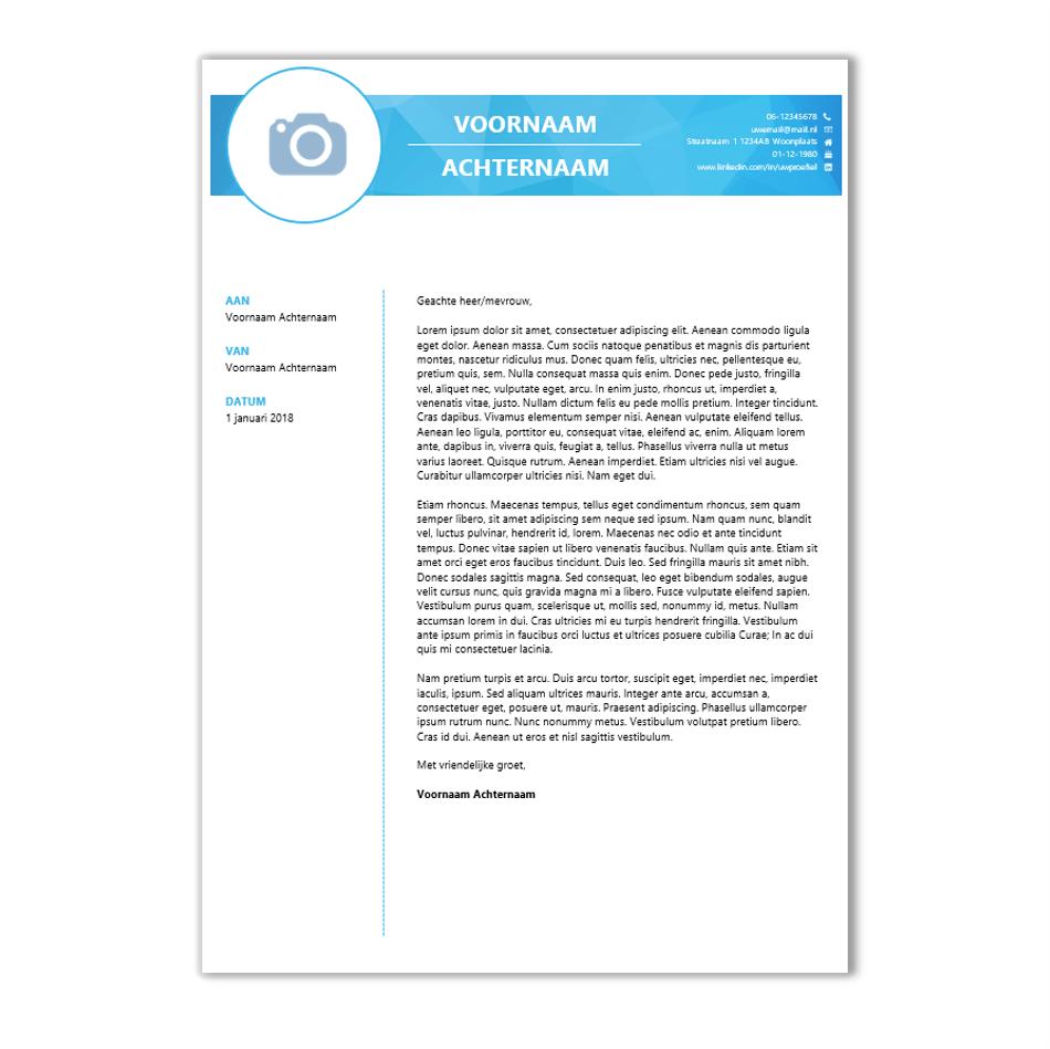 Voorbeeld CV sjabloon 91 voor Word | CV voorbeelden.nl